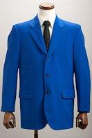カラージャケット シングル3つボタン ブルー