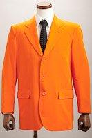 カラージャケット シングル3つボタン オレンジ