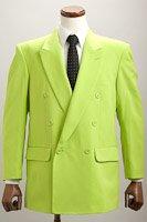 カラージャケット ダブル ライトグリーン