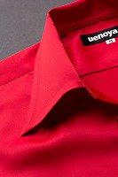 長袖開襟シャツ赤