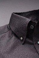スノーダスト柄ボタンダウンシャツ#271 ブラック