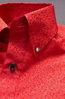 スノーダスト柄ボタンダウンシャツ#271 レッド