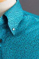 スノーダスト柄ボタンダウンシャツ#271 グリーン