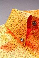 スノーダスト柄ボタンダウンシャツ#271 オレンジ