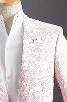 デザインドットラメジャケット ピンク#524