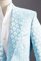 デザインドットラメジャケット ライトブルー#524