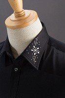 デザインカラーシャツ #740  ブラック