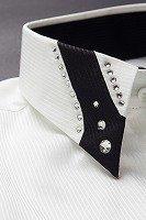 シャドーストライプ デザインカラーシャツ ホワイト