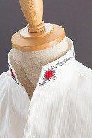 スタンドカラーシャツ オープンタイプ 薔薇 #1564
