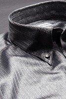 シャドーストライプボタンダウンシャツ #281 グレー