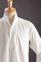 スタンドカラーシャツ オープンタイプ ストライプ #2463 ホワイト