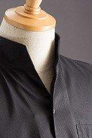 オープンスタンドカラーシャツ ブラック