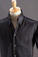 イタリアンカラーシャツブラック