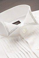 ウイングカラーシャツ ラインストーン ホワイト