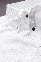 スノーダスト柄ボタンダウンシャツ ホワイト