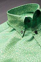 スノーダスト柄ボタンダウンシャツ#291 ライトグリーン