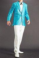 ブロックスパンコールジャケット #531 ライトブルー