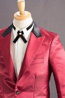 コンビ襟ジャケット #479 ワインレッド