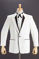 シングル1ボタンパイピングジャケット #616 ホワイト