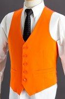 オレンジ色のベスト メンズ