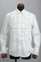 フリルシャツ 6連ホワイト