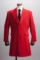 赤いロングジャケット