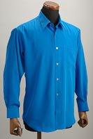 レギュラーカラーシャツ ブルー
