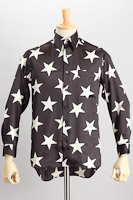星柄シャツ ブラック/ホワイト