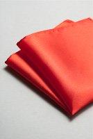 サテンポケットチーフ 全37色イタリアンレッド