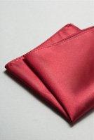 サテンポケットチーフ 全37色ワインレッド