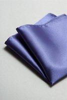 サテンポケットチーフ 全37色ディープパープル