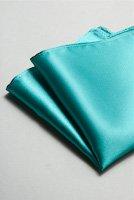 サテンポケットチーフ 全37色エメラルドグリーン
