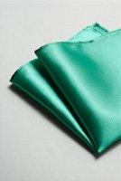 サテンポケットチーフ 全37色グリーン