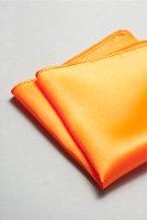 サテンポケットチーフ 全37色オレンジ