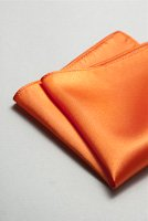 サテンポケットチーフ 全37色キャロットオレンジ