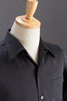 長袖開襟シャツ黒