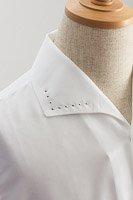 イタリアンカラー襟スワロフスキー ホワイト