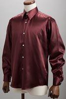 サテンシャツあずき色 #37
