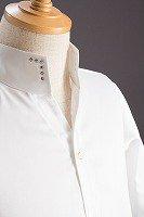 スタンドカラーシャツ オープンタイプスワロフスキー ホワイト