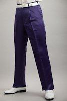 光沢のある紫色スラックス