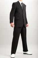 カラースーツ シングル 3つボタン ブラック 2タックパンツ モデル