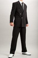 カラースーツ ダブル ブラック 2タックパンツモデル