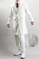 ズートスーツ・zoot suit  ペンシルストライプ オフホワイト