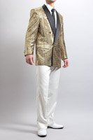 ゴールド スパンコールジャケット シングル1ボタン