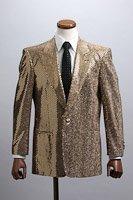 スパンコールジャケット シングル1ボタン ゴールド