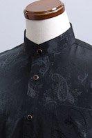 ペイズリー柄スタンドカラーシャツ #4m227