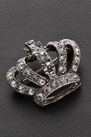 王冠  ブローチ ラインストーン#1004の画像