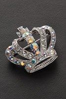 王冠  ブローチ ラインストーン#1005の画像