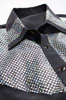 スパンコールレギュラーシャツ #101 ブラック
