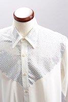 スパンコールレギュラーシャツ #101 ホワイト